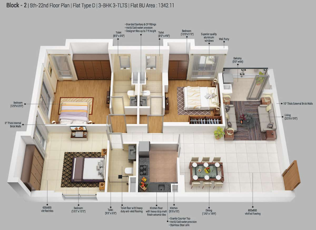 100 244 Square Yards Modern Flat Dream Home India One