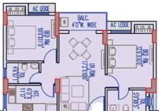 merlin legacy apartment 2bhk 941sqft