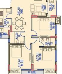 merlin legacy apartment 3bhk 1296sqft