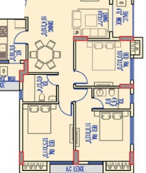 merlin legacy apartment 3bhk 1827sqft