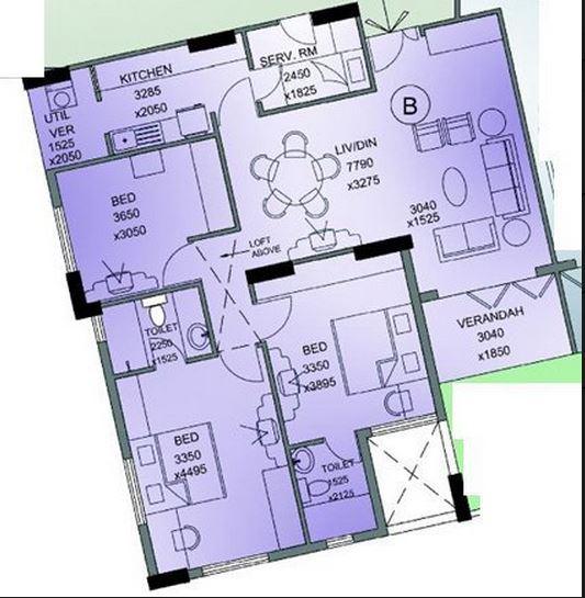 merlin merlin regency apartment 3bhk 1540sqft