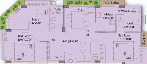 merlin ornate apartment 2bhk 1061sqft 1