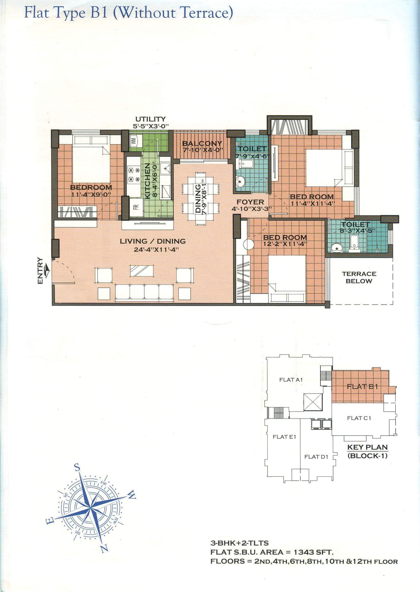 merlin regalia apartment 3bhk 1343sqft 1
