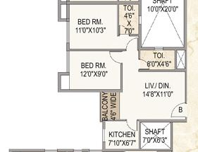 mounthill the pyramid apartment 2bhk 938sqft1