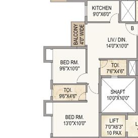 mounthill the pyramid apartment 2bhk 969sqft1
