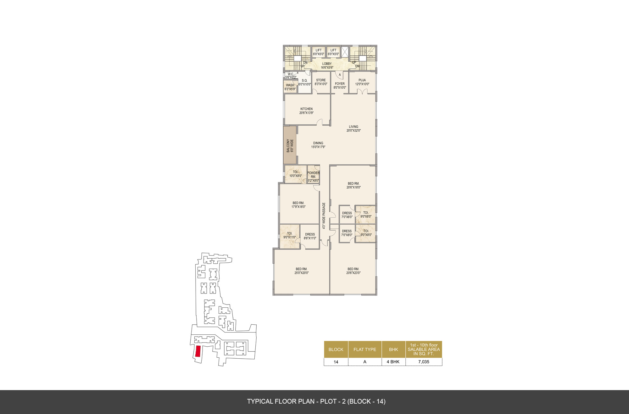 mounthill the pyramid apartment 4bhk 7035sqft1