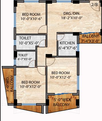 nirman hijibiji apartment 3bhk 1380sqft 1