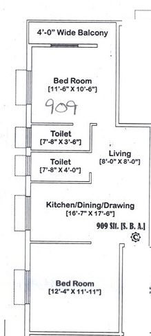 prantik abasan apartment 2bhk 909sqft 1