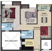 primarc aura apartment 2bhk 711sqft 1