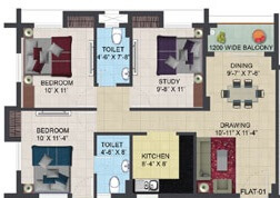 primarc aura apartment 2bhk st 1202sqft 1