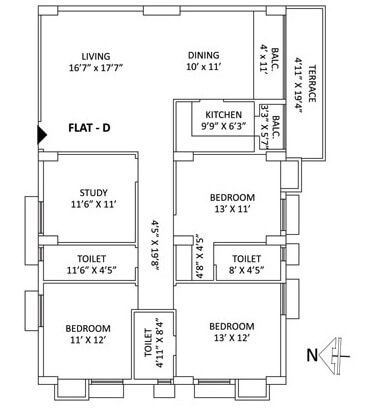 ps aspirations elixir apartment 4bhk 2118sqft 1
