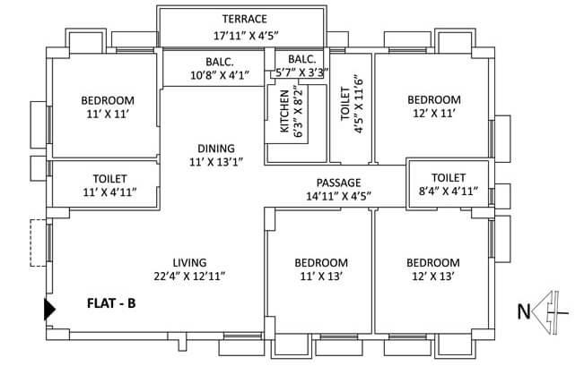 ps aspirations elixir apartment 4bhk 2123sqft 1