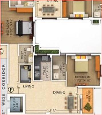 rajwada pebble bay apartment 2bhk 1030sqft