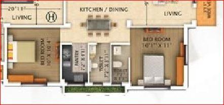 rajwada pebble bay apartment 2bhk 920sqft
