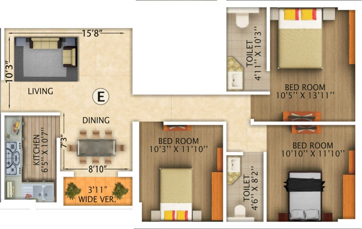 rajwada royal gardens apartment 3bhk 1424sqft51