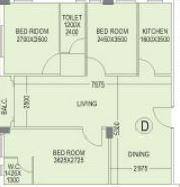rdb regent pearl apartment 3bhk 1220sqft