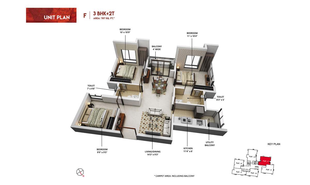 rishi pranaya phase i apartment 3bhk 1185sqft51