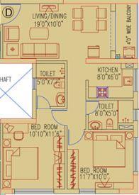 ruchi active acres apartment 2bhk 1011sqft