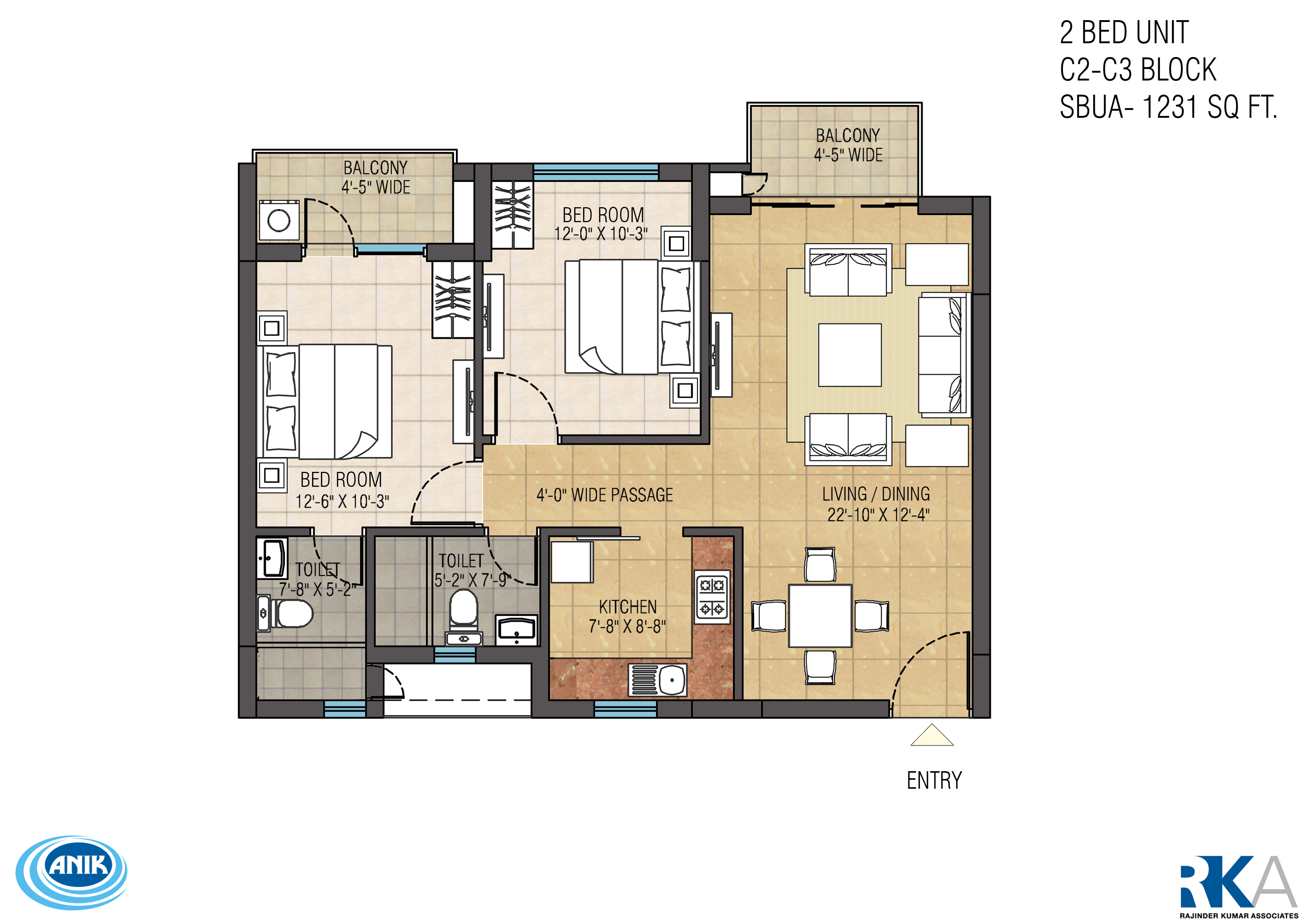 ruchi one rajarhat apartment 2bhk 1231sqft 1