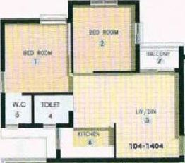 shapoorji pallonji shukho brishti apartment 2bhk 650sqft