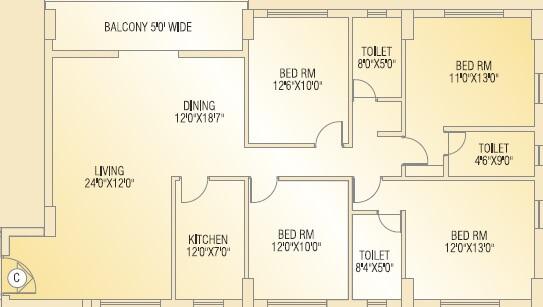 shivom utopia apartment 4bhk 2156sqft 1