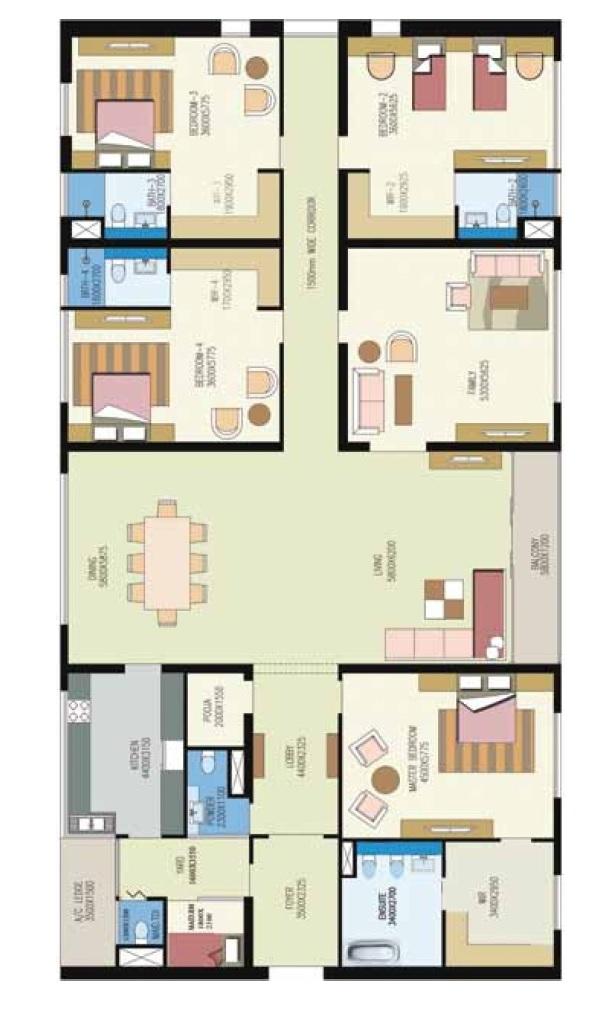 shrachi urbana apartment 4bhk 5205sqft1