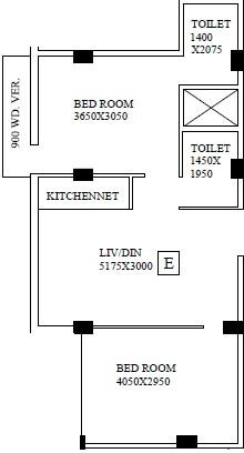 shrestha garden phase iii apartment 2bhk 797sqft 1