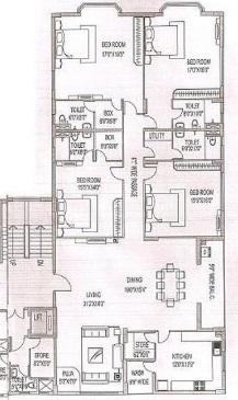 siddha arch shivam apartment 4bhk 3760sqft