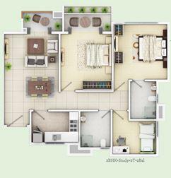 siddha happyville apartment 2bhk 1125sqft