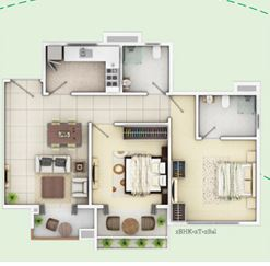 siddha happyville apartment 2bhk 910sqft