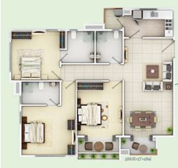 siddha happyville apartment 3bhk 1310sqft
