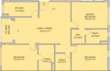 siddha nirvana apartment 3bhk 2015sqft