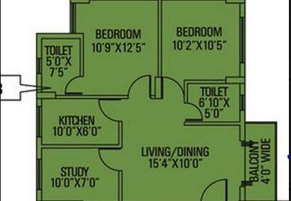 siddha pine woods apartment 2bhk 935sqft