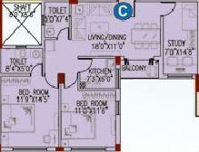 space club town gateway apartment 2bhk 1173sqft