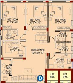 space club town gateway apartment 3bhk 1835sqft