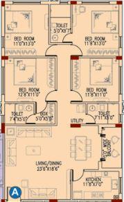 space club town gateway apartment 4bhk 2044sqft