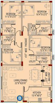 space club town gateway apartment 4bhk 2321sqft