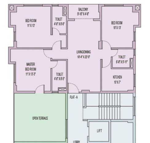 unimark sikha tuku apartment 3bhk 1502sqft