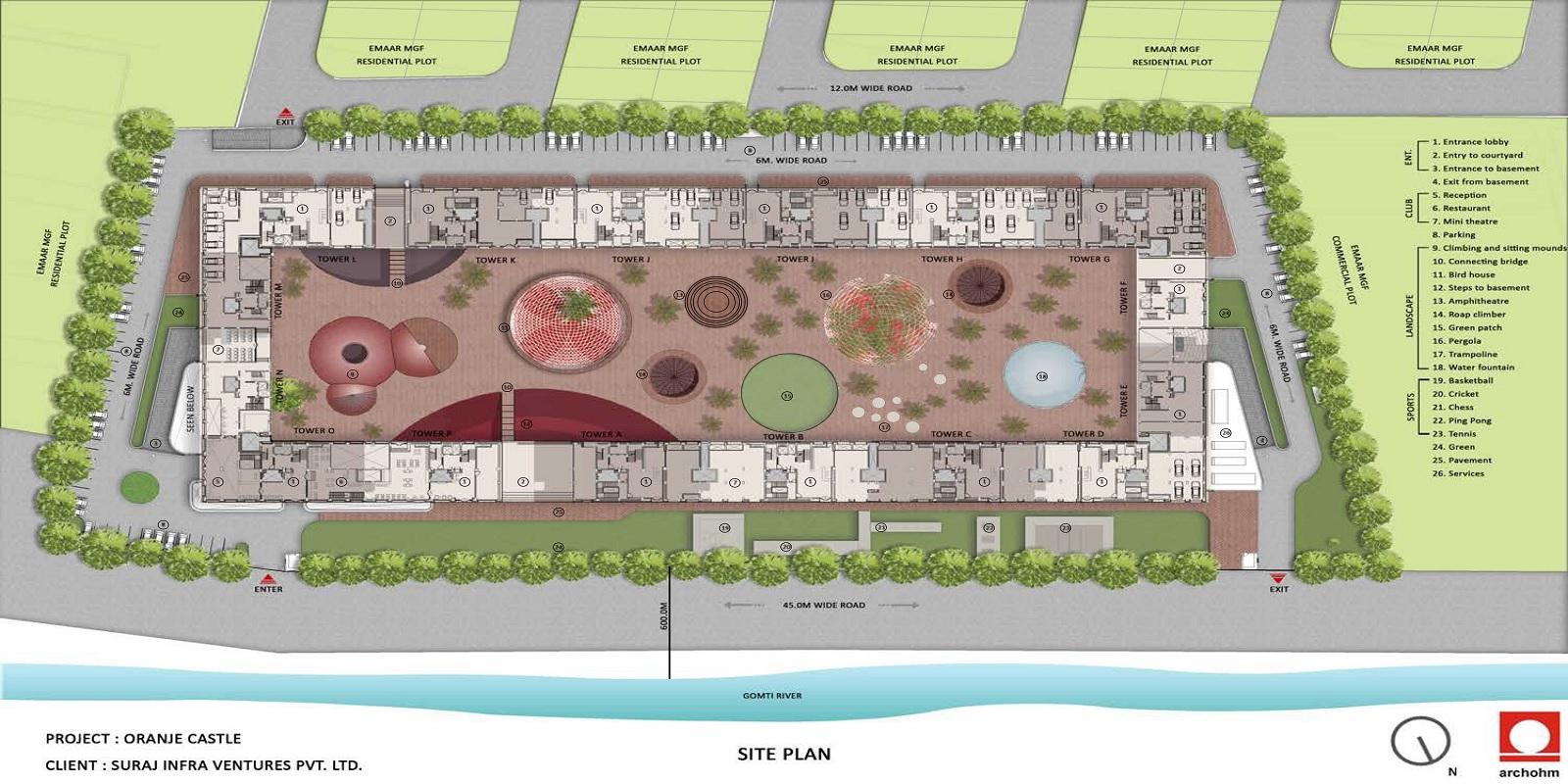 emaar orange castle project master plan image1
