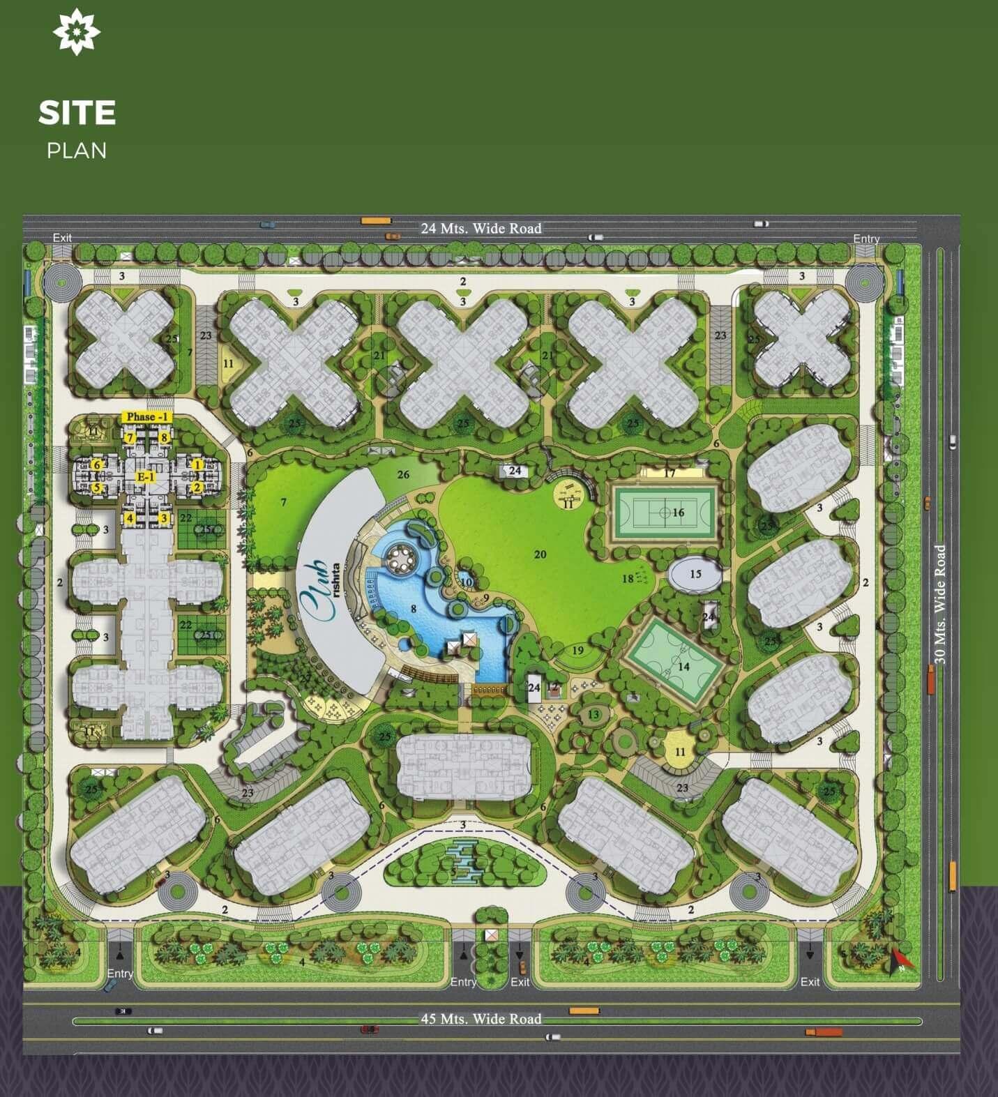 rishita mulberry heights master plan image1