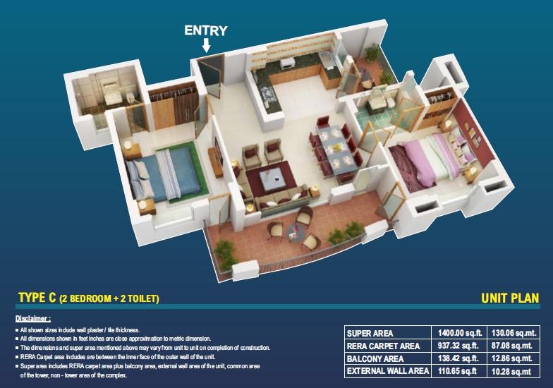 eiffel vivassa estate apartment 2bhk 937sqft31