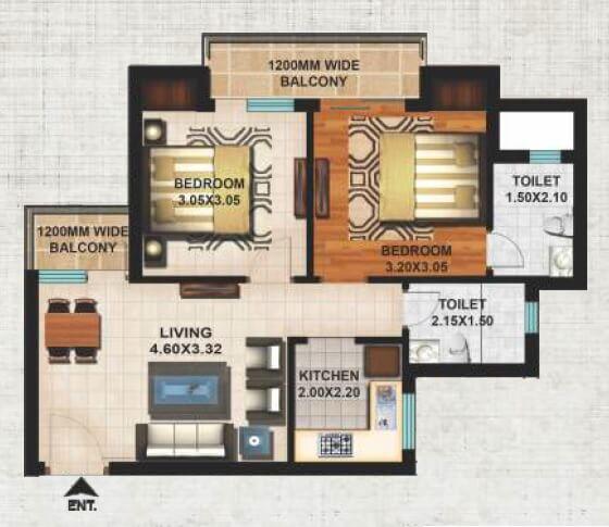 excella kutumb apartment 2bhk 899sqft 1