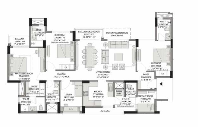 experion capital phase 1 apartment 4 bhk 1346sqft 20200213160241