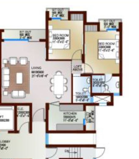 levana celebrity meadows apartment 2bhk 1295sqft 1