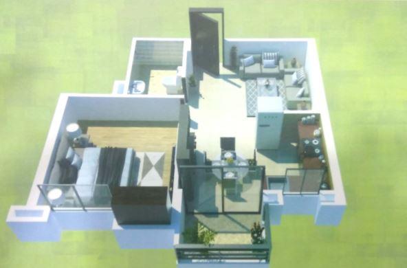 madhav residency apartment 1bhk 489sqft 1