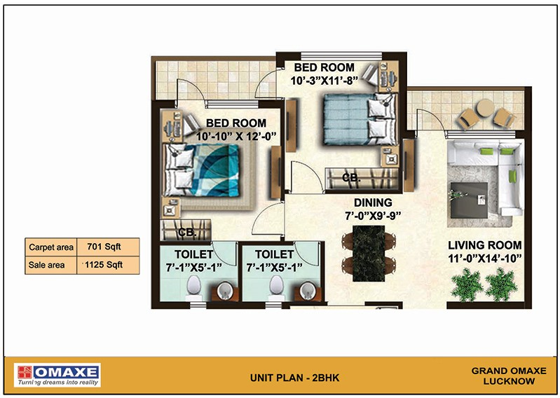 omaxe grand omaxe apartment 3bhk 1450sqft21