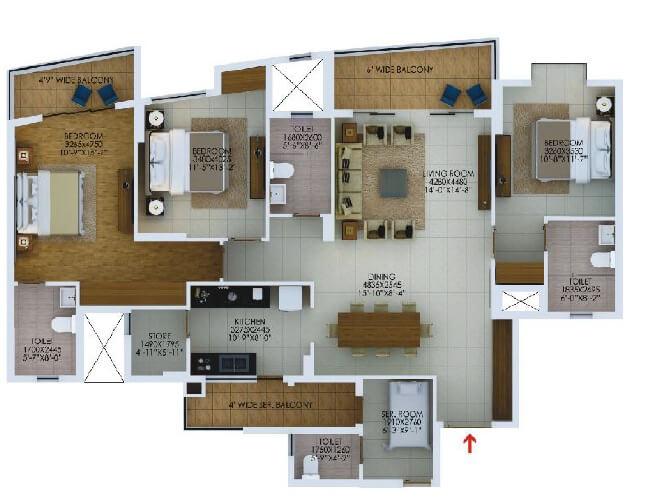 paarth arka apartment 3bhk sq 1309sqft 1