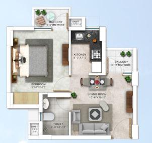 paarth humming retreat apartment 1bhk 295sqft01
