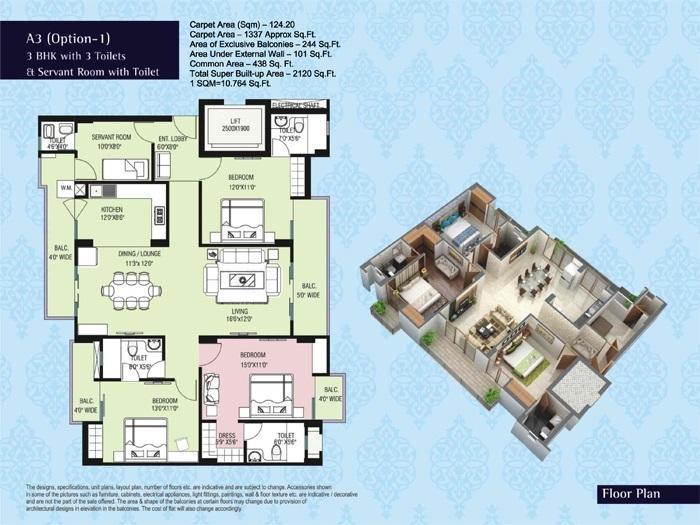 purvanchal kings court apartment 3 bhk 1337sqft 20203613103619