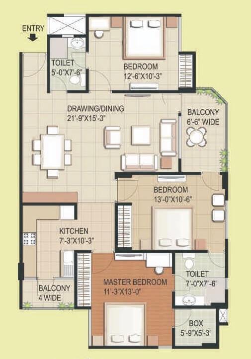 rg euphoria apartment 3bhk 974sqft 1